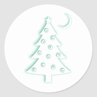 Christmas Macabre Tree Classic Round Sticker