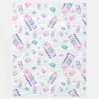 Christmas macarons fleece blanket
