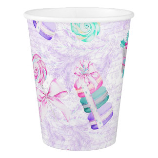 Christmas macarons paper cup