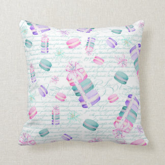 Christmas macarons throw pillow