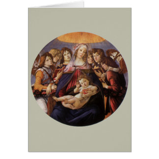 Christmas Madonna and Child w Angels by Botticelli Card