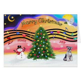 Christmas Magic 2 - Schnauzer 2 Greeting Card