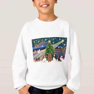 Christmas Magic /  Cavalier King Charles (four) Sweatshirt