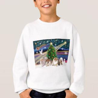 Christmas Magic Chow Chows (four) Sweatshirt