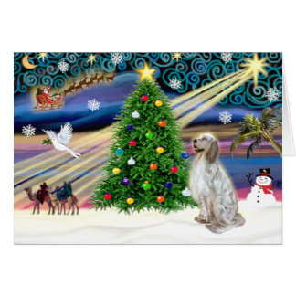 Christmas Magic English Setter Card