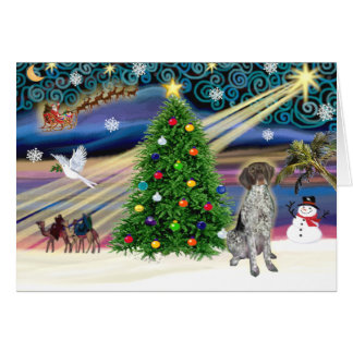 Christmas Magic German Short Haired Pointer Card