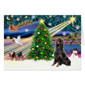 Christmas Magic Gordon Setter Card