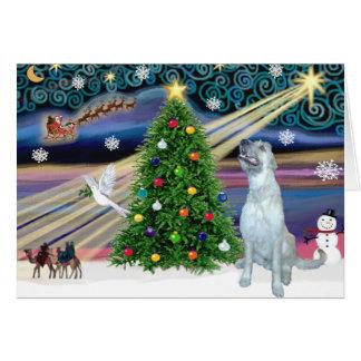Christmas Magic Irish Wolfhound Card