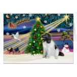 Christmas Magic Newfoundland (Landseer) Greeting Cards