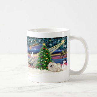Christmas Magic Pekingese (white) Coffee Mug