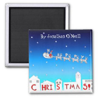 Christmas Magnet- Santa By Jonathan O'Neill Magnet