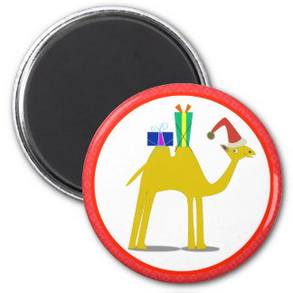 Christmas Magnets: Camel 2 Inch Round Magnet