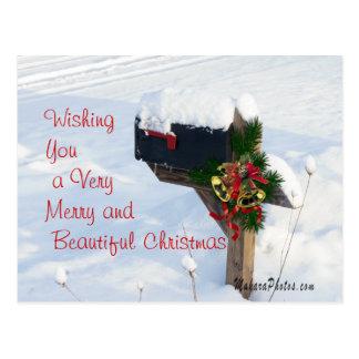 Christmas Mailbox/Bells Postcard 2- customize