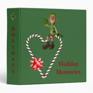 Christmas Male Elf Heart Holiday Custom Binder