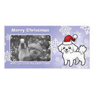 Christmas Maltese (puppy cut) Customized Photo Card
