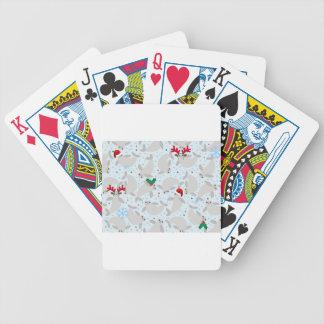 christmas manatee bicycle playing cards