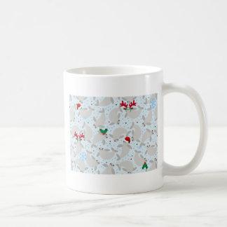christmas manatee coffee mug