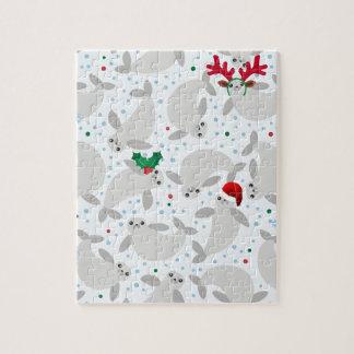 christmas manatee jigsaw puzzle