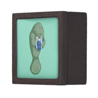 Christmas Manatee Premium Keepsake Box