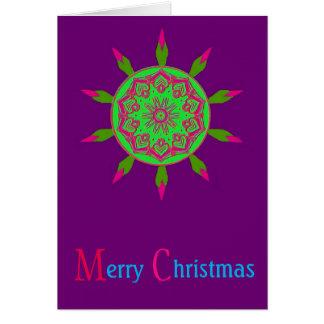 Christmas mandala card
