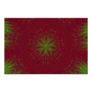 Christmas Mandala in Red and Green Photo