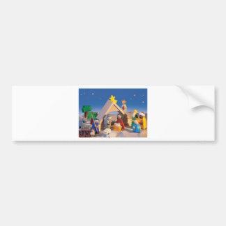 Christmas Manger Scene Bumper Sticker