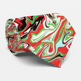 Christmas marbled holiday neck tie