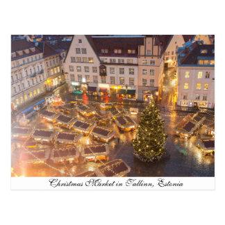 Christmas Market in Tallinn, Estonia Postcard