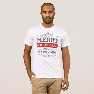 Christmas Marriage Proposal T Shirt