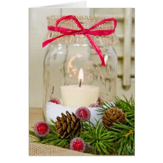 Christmas Mason Jar Card
