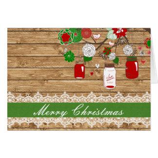 Christmas Mason Jar Christmas Card
