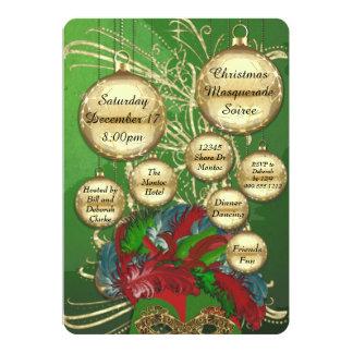 Christmas Masquerade Soiree Card