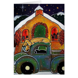 Christmas Mass by Jan Oliver Card