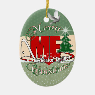 CHRISTMAS ME MECHANICAL ENGINEER CERAMIC ORNAMENT