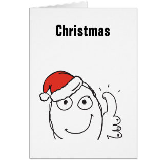 Christmas Meme Troll Le Me ThumbUp Custom EDITABLE Card