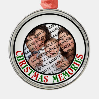 Christmas Memories Commemorative Photo Metal Ornament