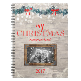 Christmas Memories Notebook Journal Birch Bark