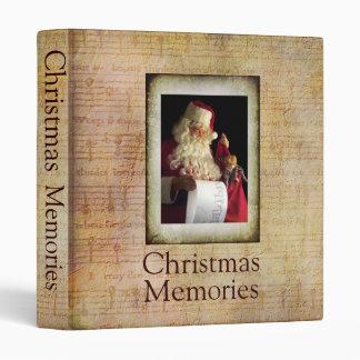 Christmas Memories Santa Binder