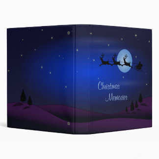 Christmas Memories Santa Claus is Coming 3 Ring Binders