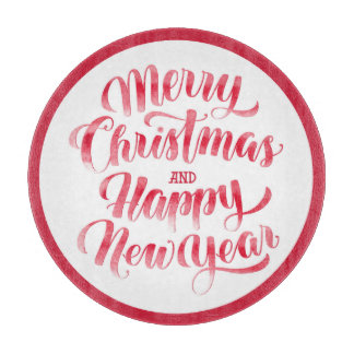 Christmas | Merry Christmas & Happy New Year Cutting Board