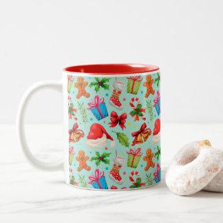 Christmas, Merry Christmas Two-Tone Coffee Mug