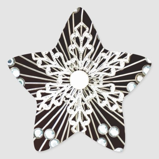 Christmas Merry Holiday Tree Ornaments celebration Star Stickers