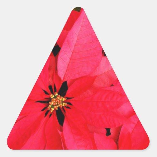 Christmas Merry Holiday Tree Ornaments celebration Triangle Sticker