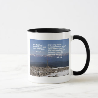 Christmas message with Cross Mug