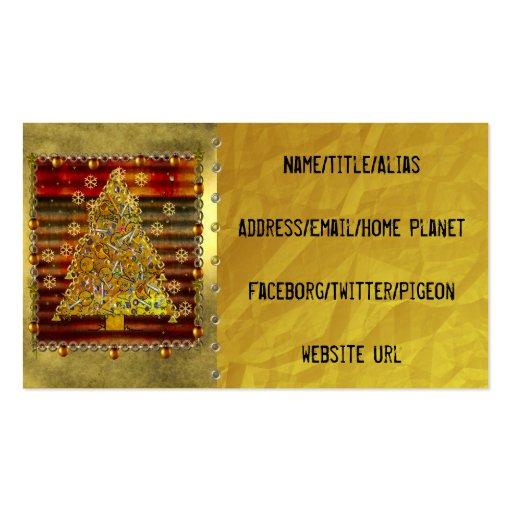 Christmas Metal Tree Business Card Template