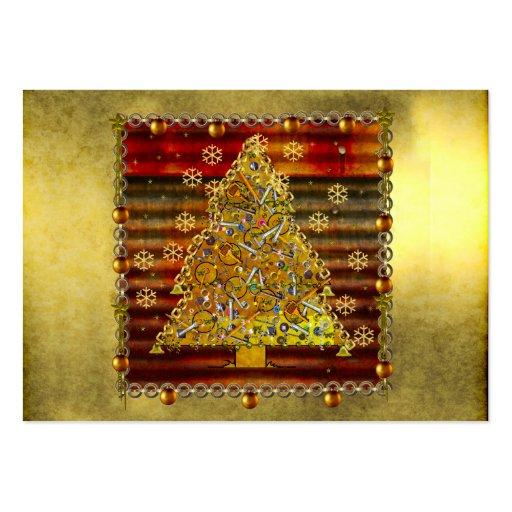 Christmas Metal Tree Business Card Templates