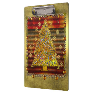 Christmas Metal Tree Clipboard
