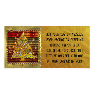 Christmas Metal Tree Picture Card