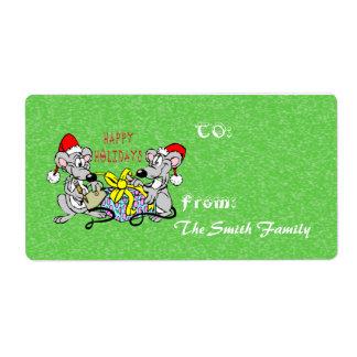 Christmas Mice Gift Tag (large)