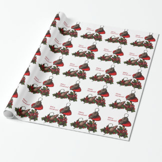 Christmas: Mice on Toadstool, Holly: Art Wrapping Paper